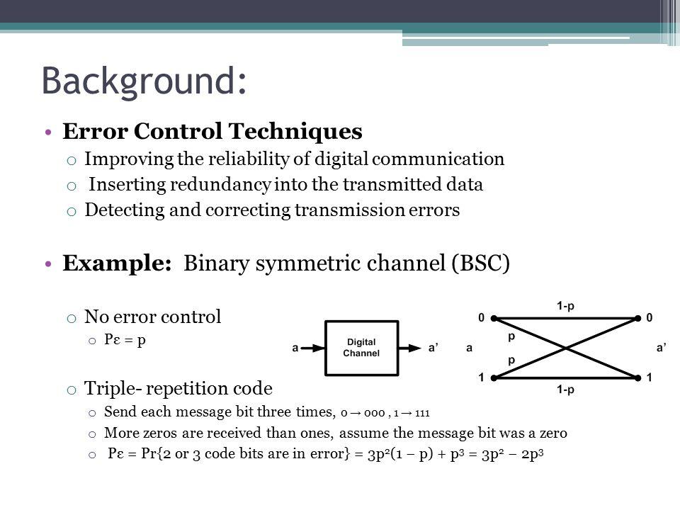 Background: Error Control Techniques