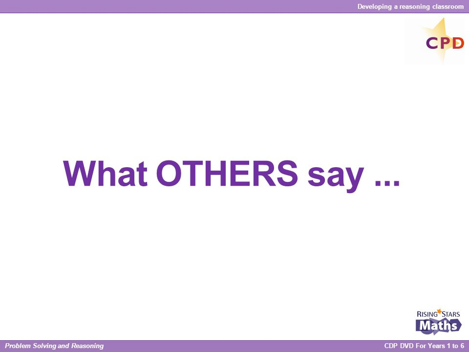 What OTHERS say ...