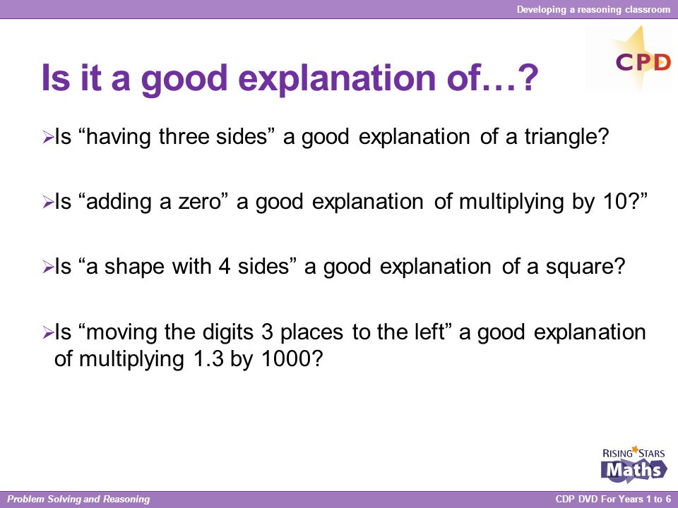 Is it a good explanation of…