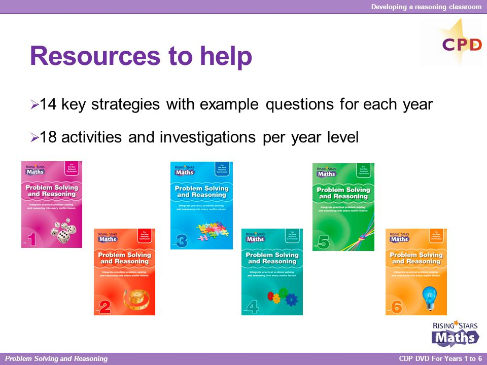 Resources to help 14 key strategies with example questions for each year.
