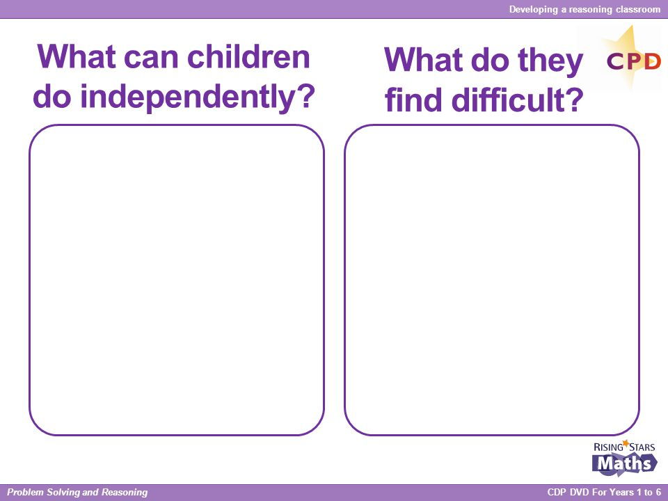 What can children do independently