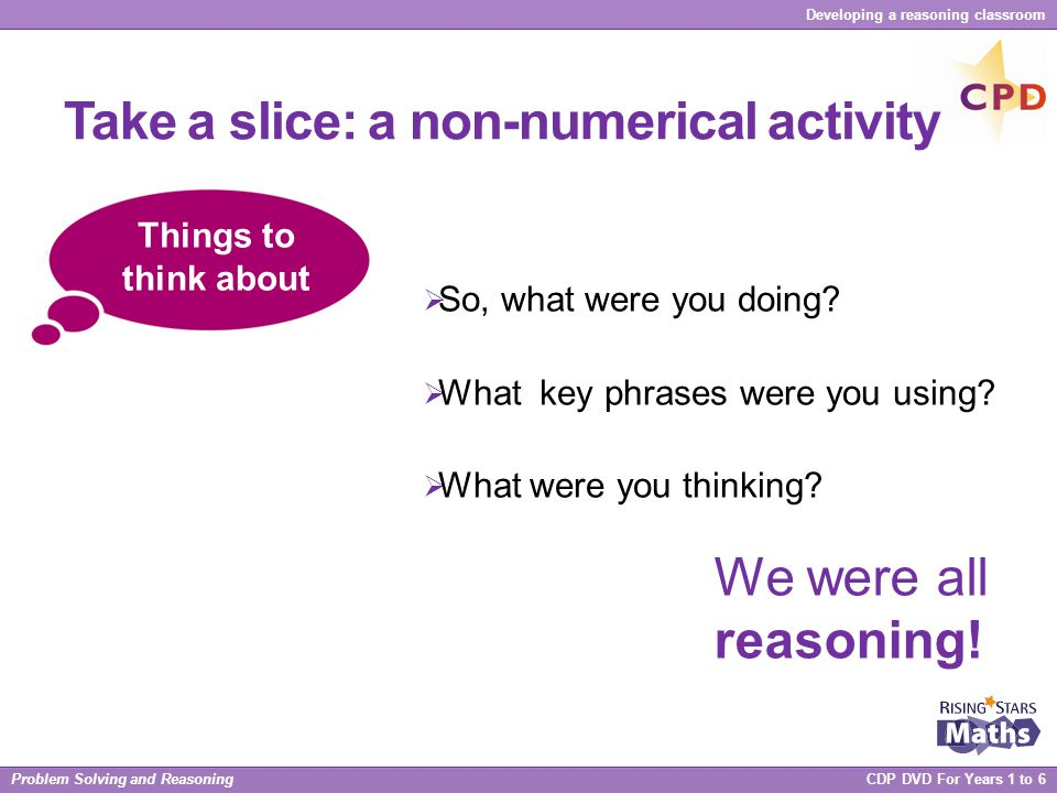 Take a slice: a non-numerical activity