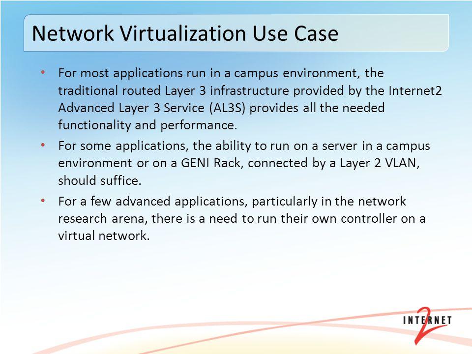 Network Virtualization Use Case