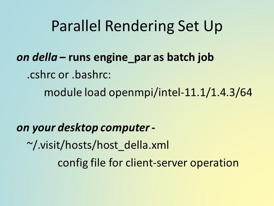 Parallel Rendering Set Up