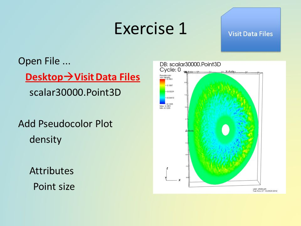 Exercise 1 Visit Data Files. Open File ...