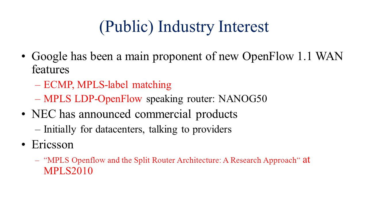 (Public) Industry Interest