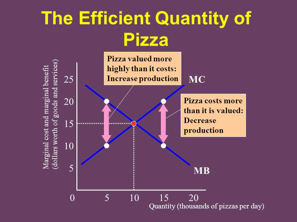 The Efficient Quantity of Pizza