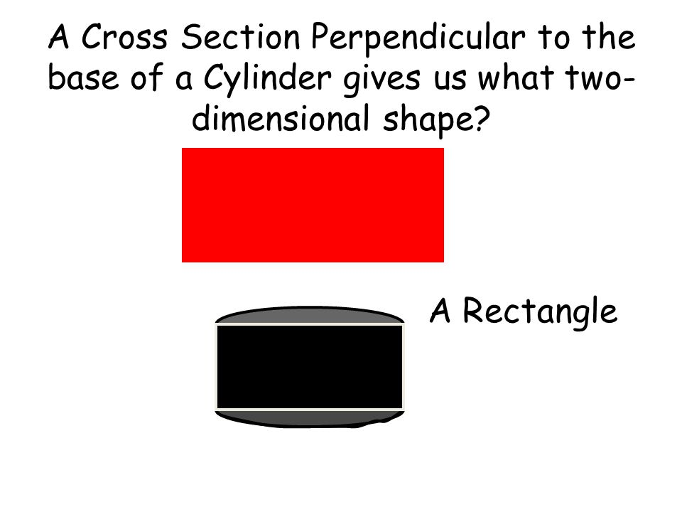 A Cross Section Perpendicular to the base of a Cylinder gives us what two- dimensional shape
