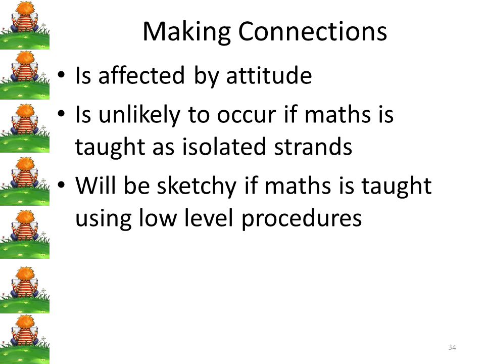 Making Connections Is affected by attitude