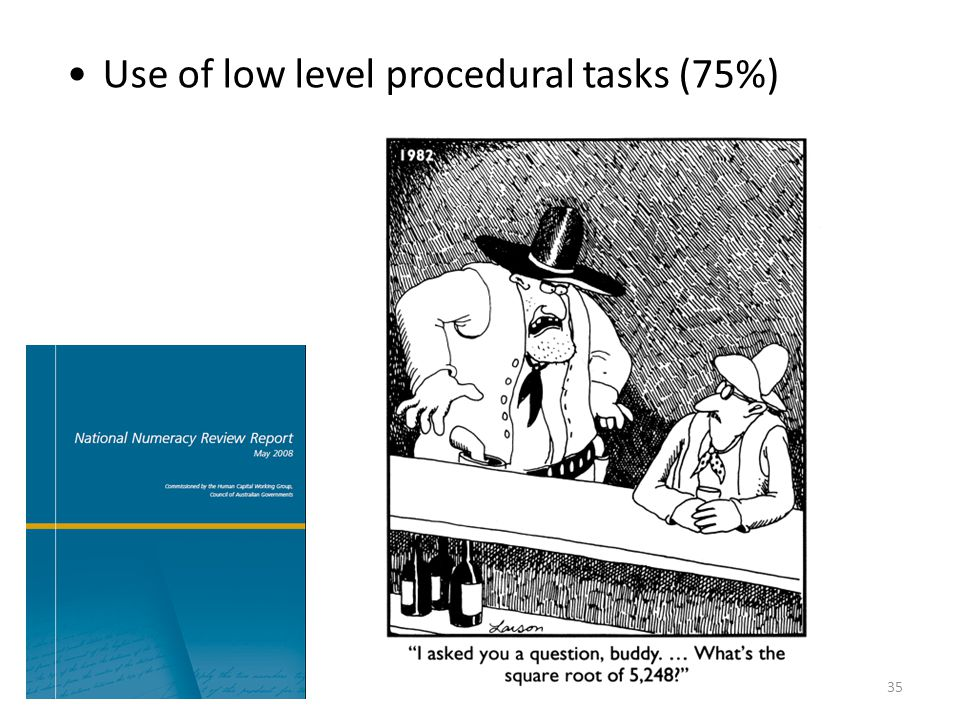 Use of low level procedural tasks (75%)