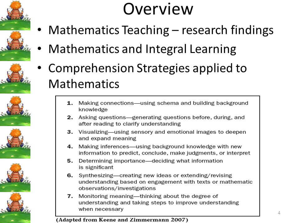 Overview Mathematics Teaching – research findings