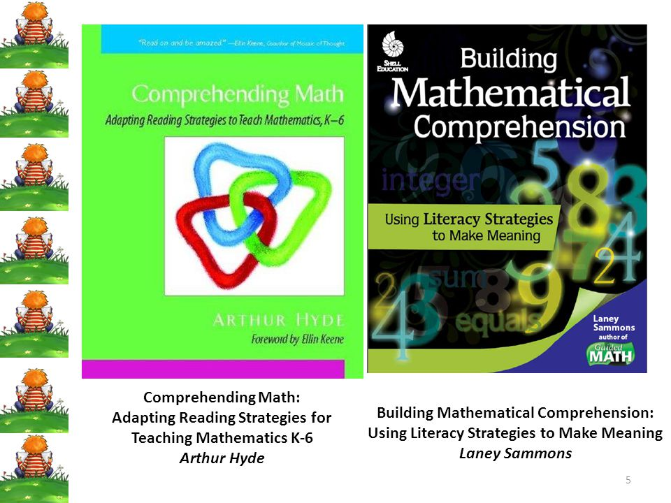 Adapting Reading Strategies for Teaching Mathematics K-6 Arthur Hyde