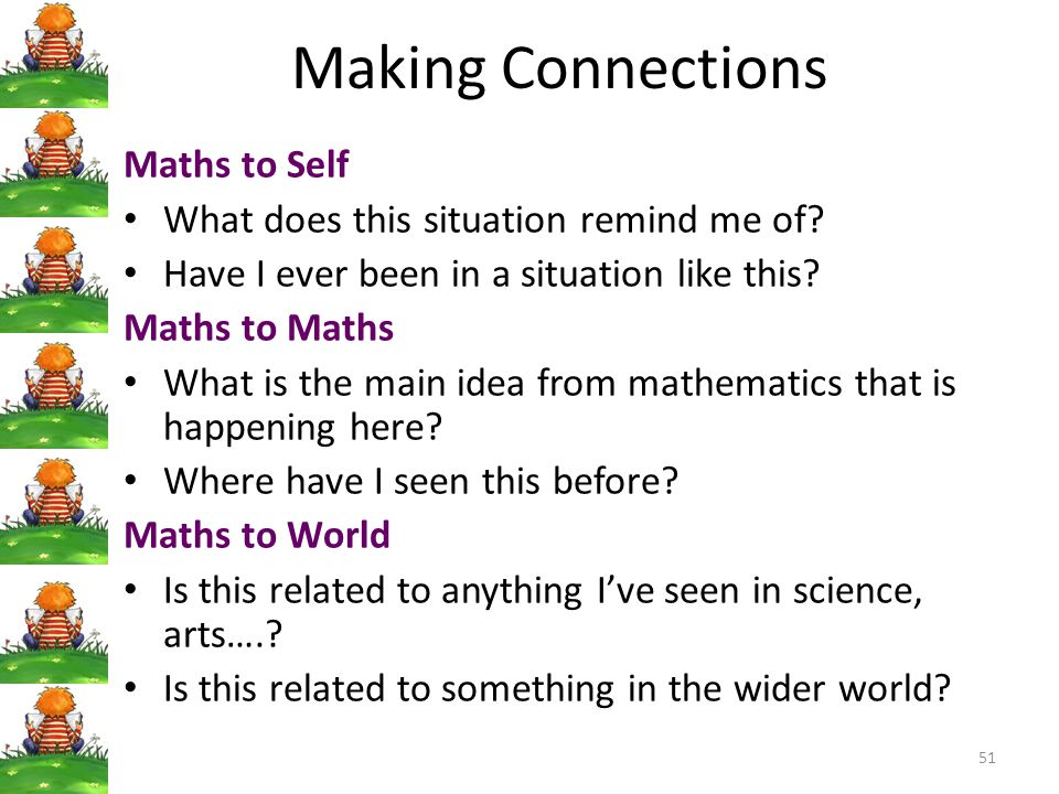 Making Connections Maths to Self