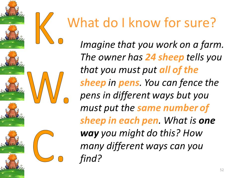 What do I know for sure K. W. C.