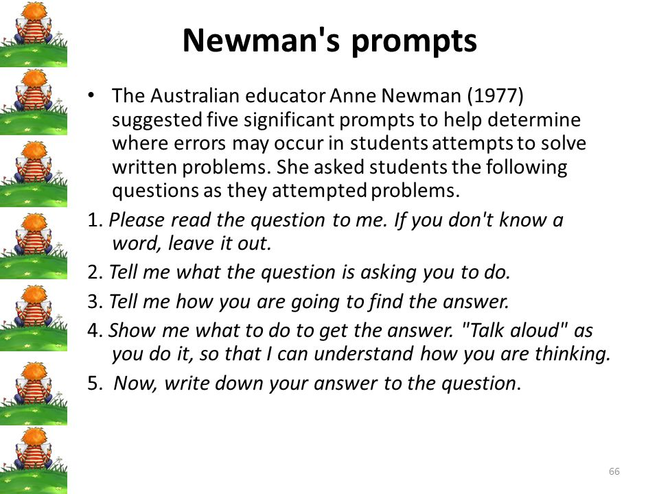 Newman s prompts