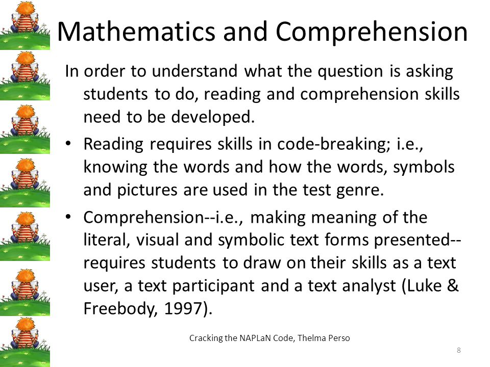 Mathematics and Comprehension