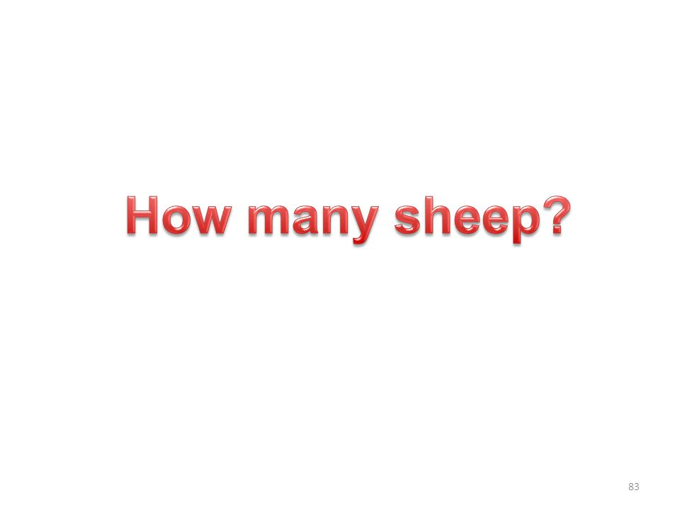 How many sheep