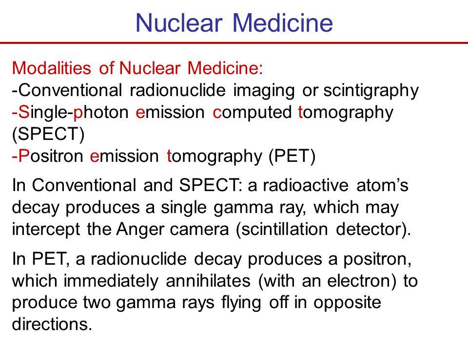 Nuclear Medicine Modalities of Nuclear Medicine: