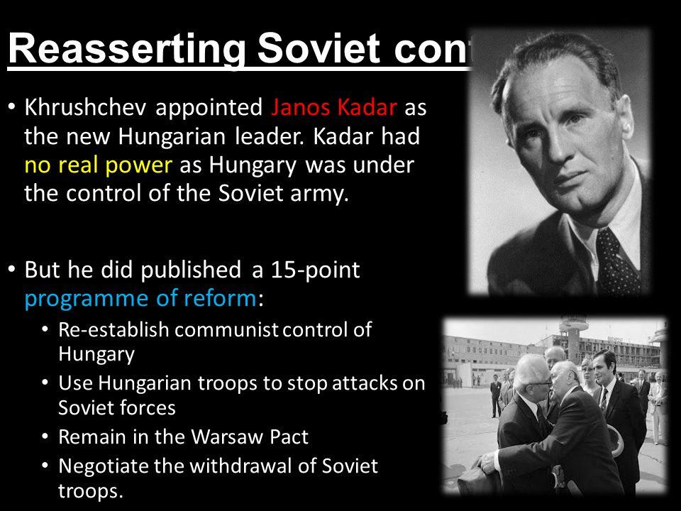 Reasserting Soviet control