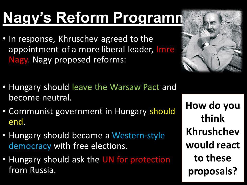 Nagy's Reform Programme