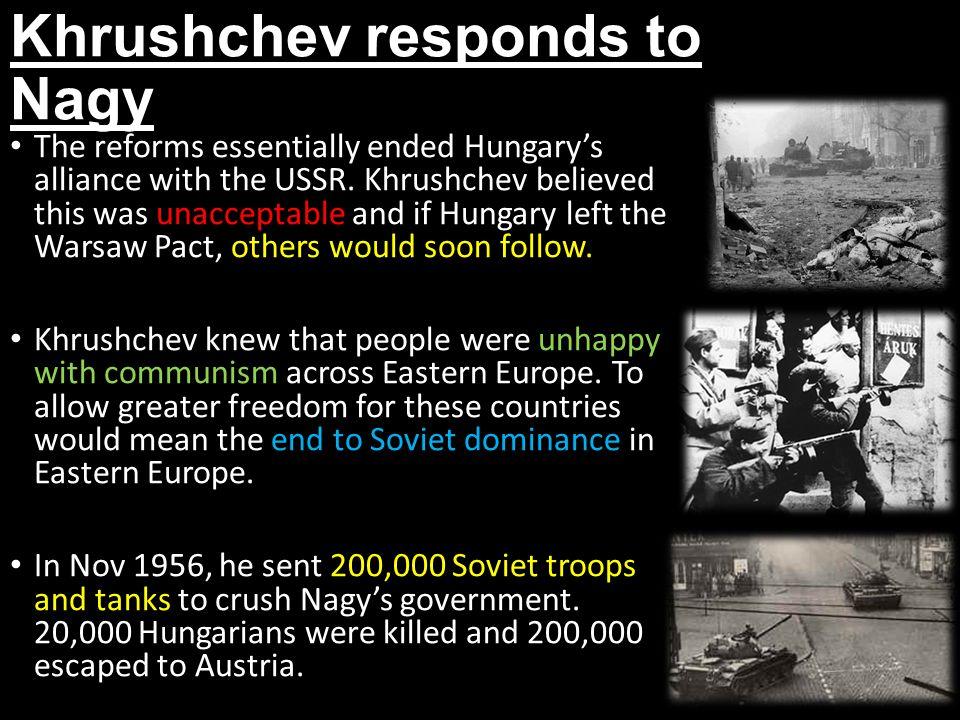 Khrushchev responds to Nagy