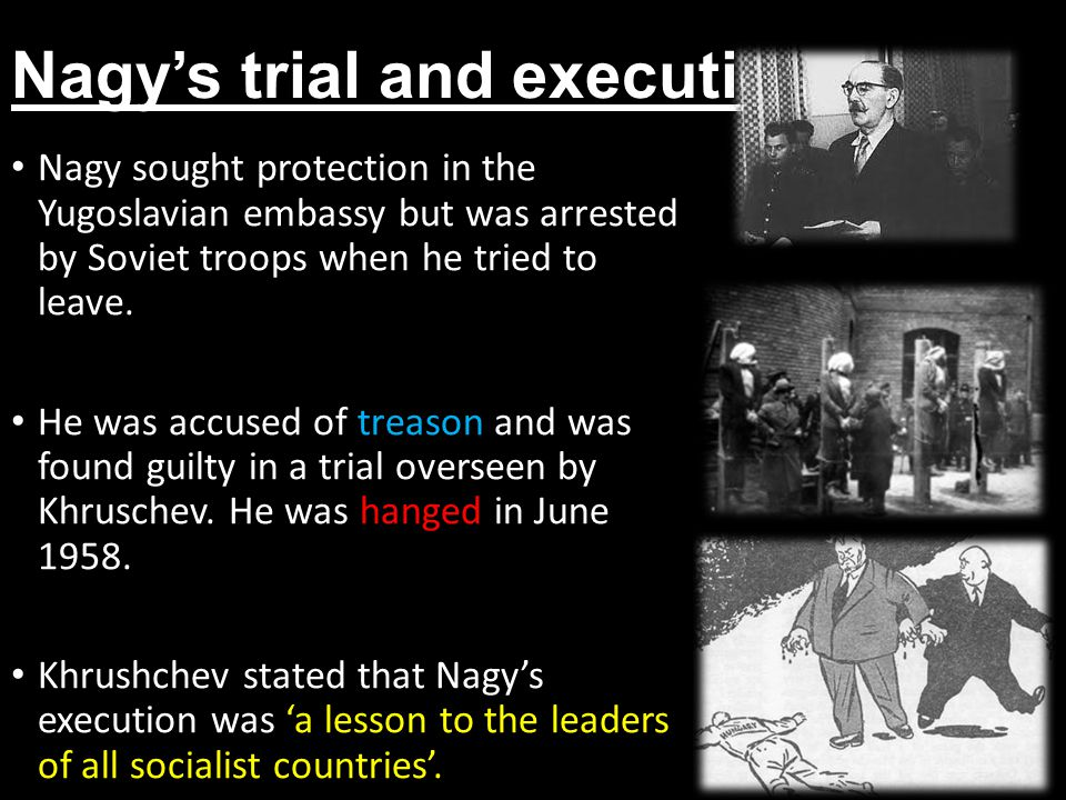 Nagy's trial and execution