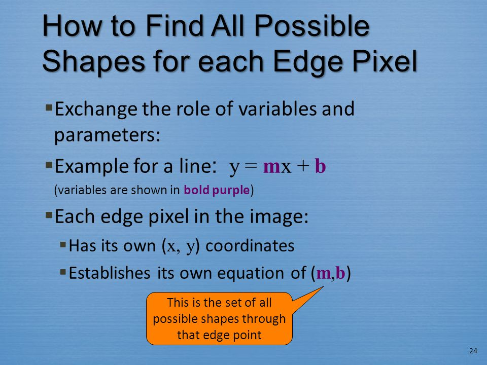 How to Find All Possible Shapes for each Edge Pixel