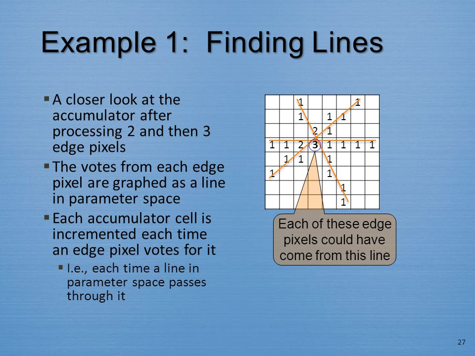 Example 1: Finding Lines