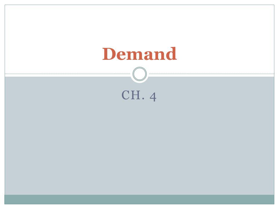 Demand Ch. 4