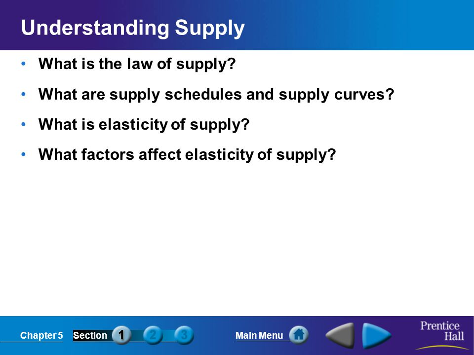 Understanding Supply What is the law of supply