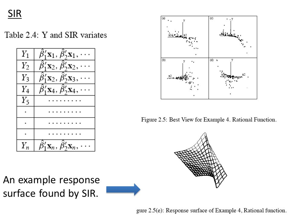 SIR An example response surface found by SIR.