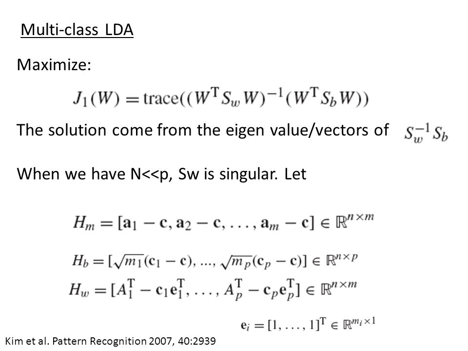 The solution come from the eigen value/vectors of