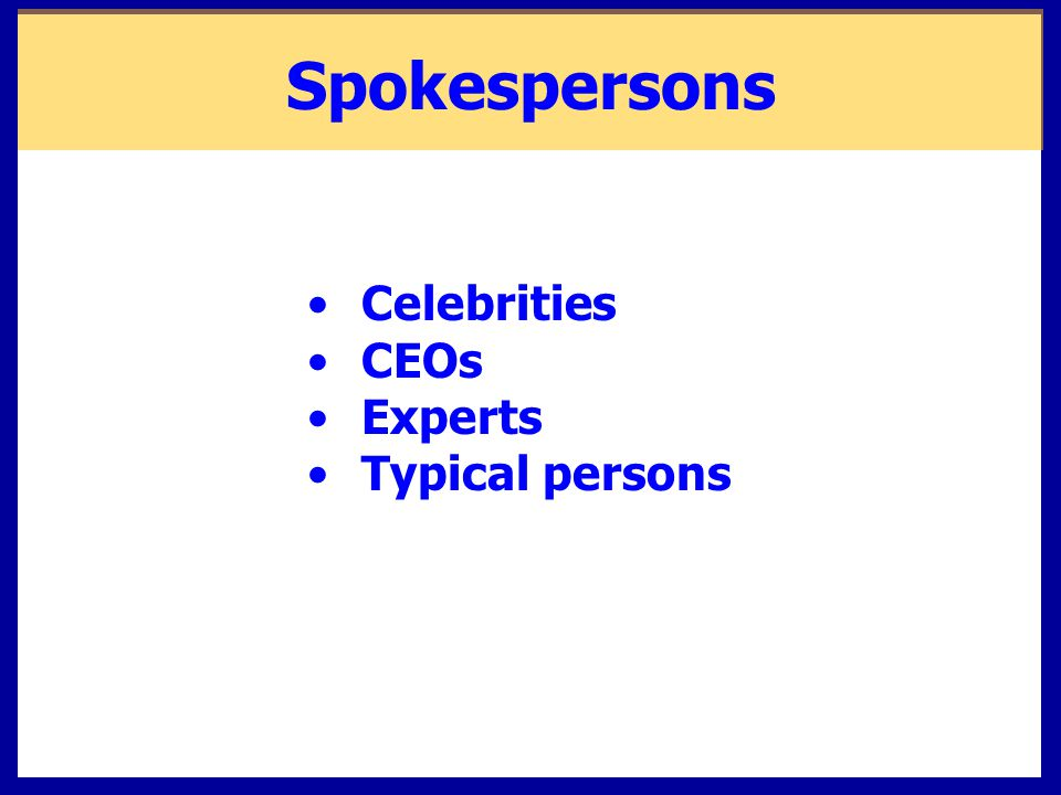 Celebrities CEOs Experts Typical persons