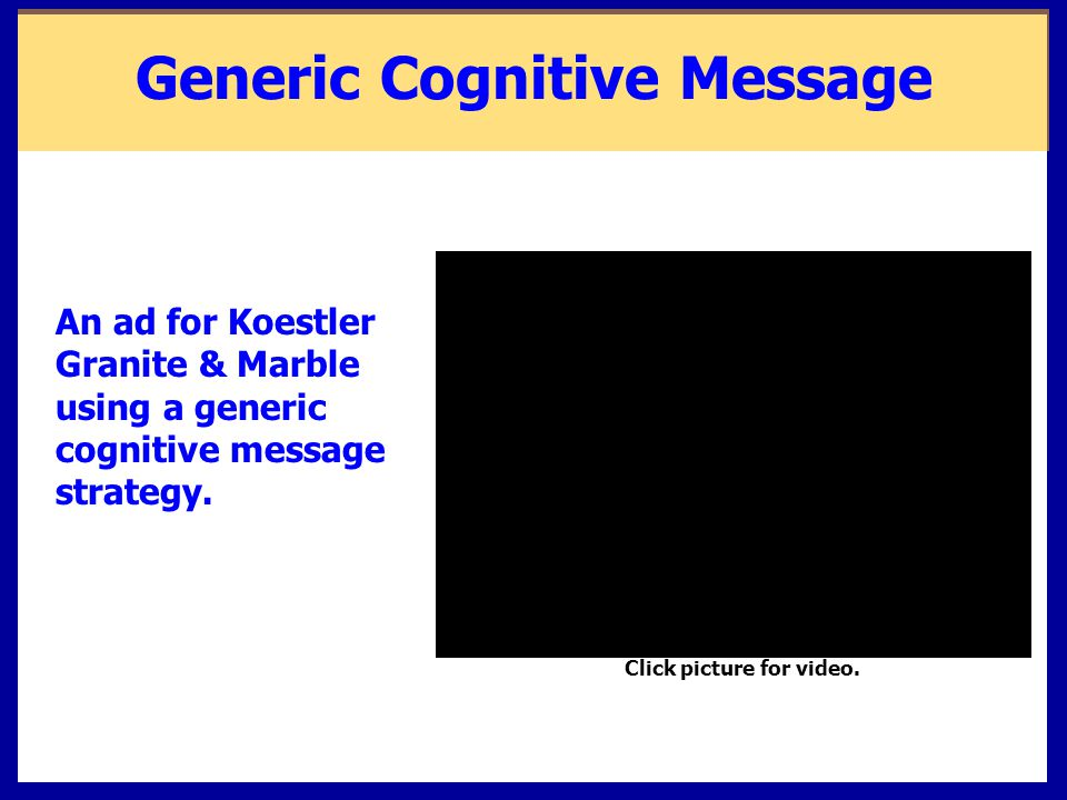 Generic Cognitive Message Click picture for video.