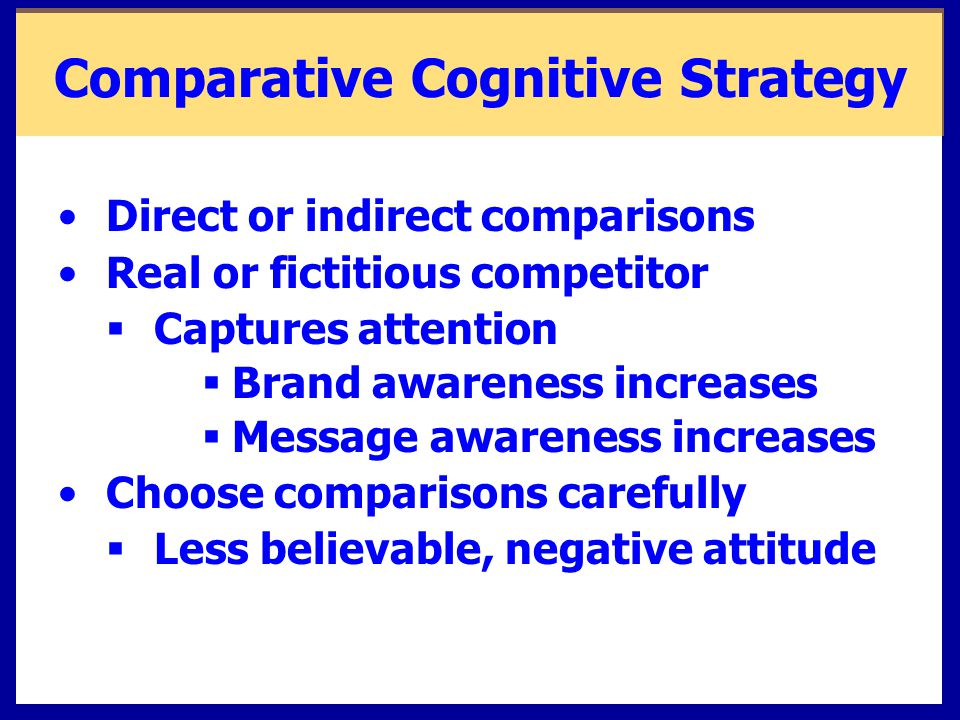 Comparative Cognitive Strategy