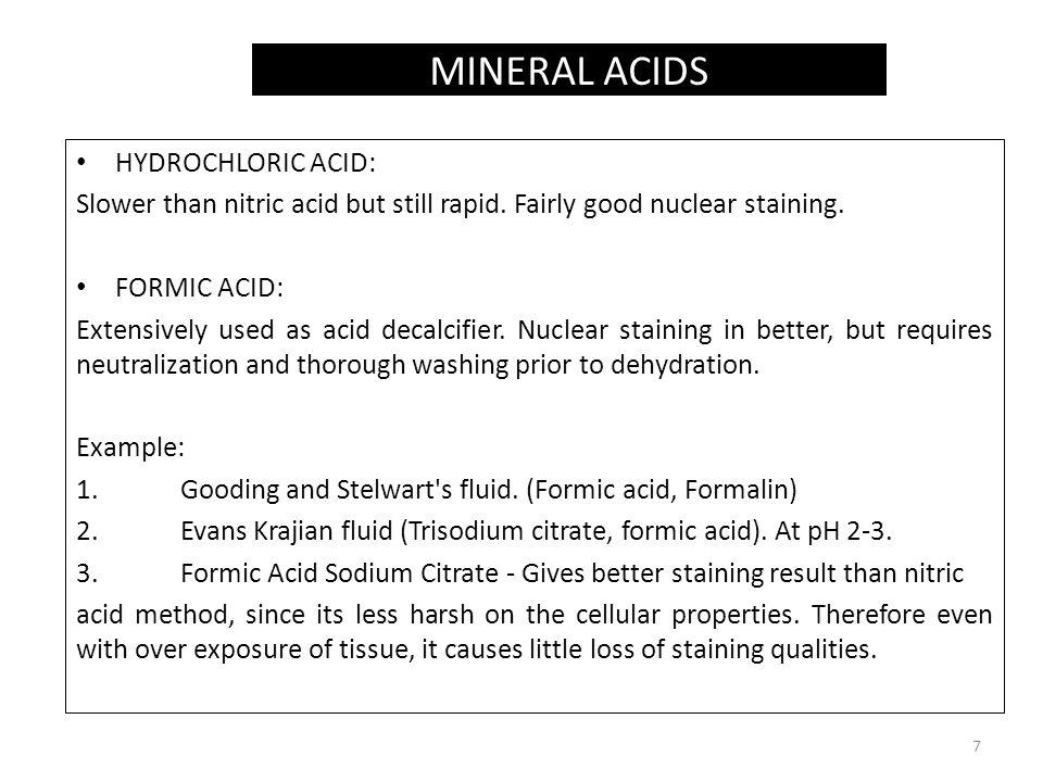 MINERAL ACIDS HYDROCHLORIC ACID: