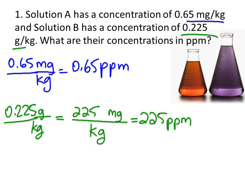 1. Solution A has a concentration of 0