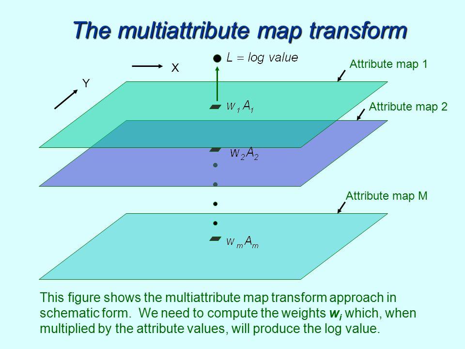 The multiattribute map transform