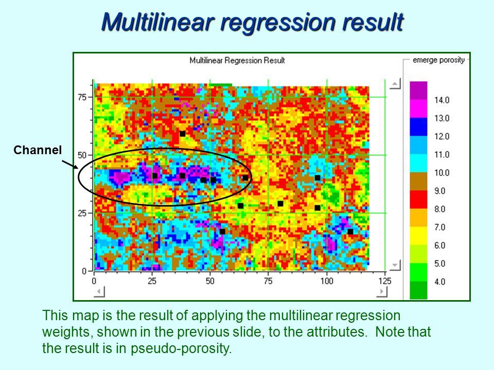 Multilinear regression result