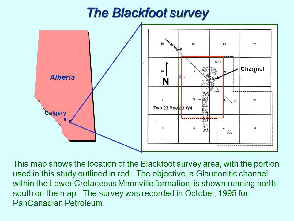 The Blackfoot survey Channel. Alberta. N. Calgary.