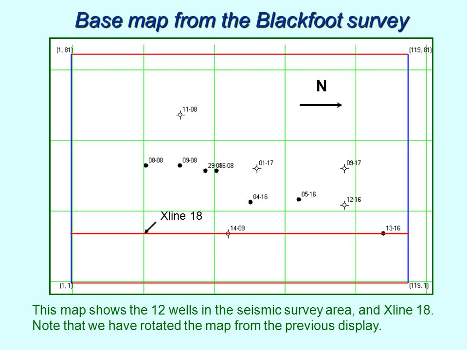 Base map from the Blackfoot survey