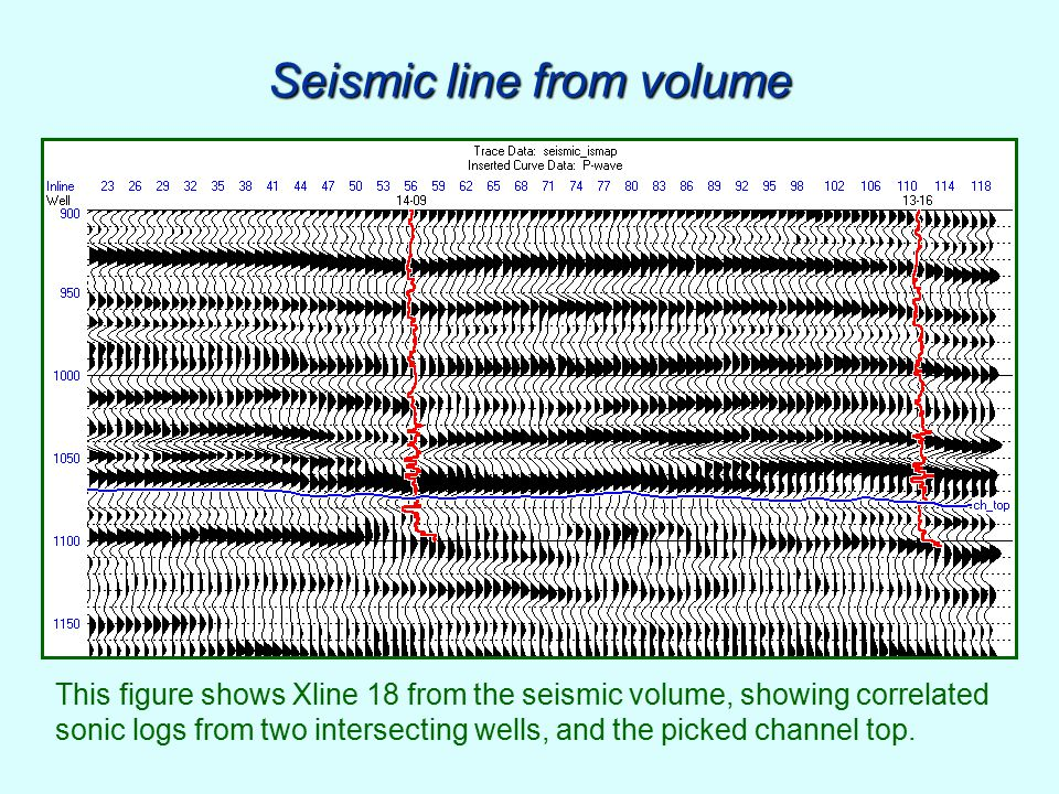 Seismic line from volume