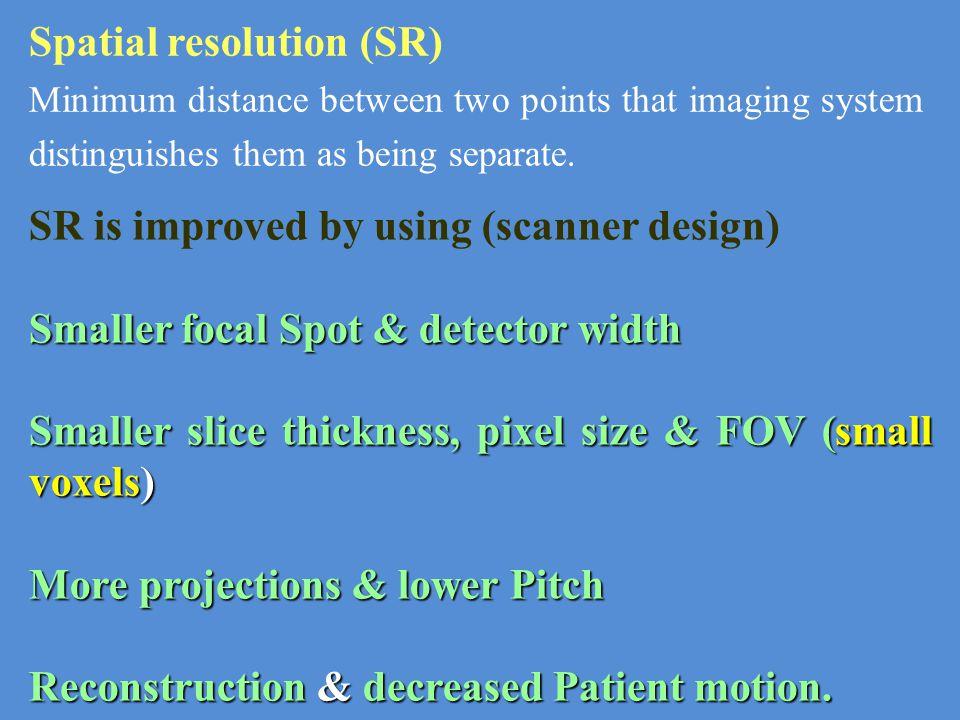 Spatial resolution (SR)