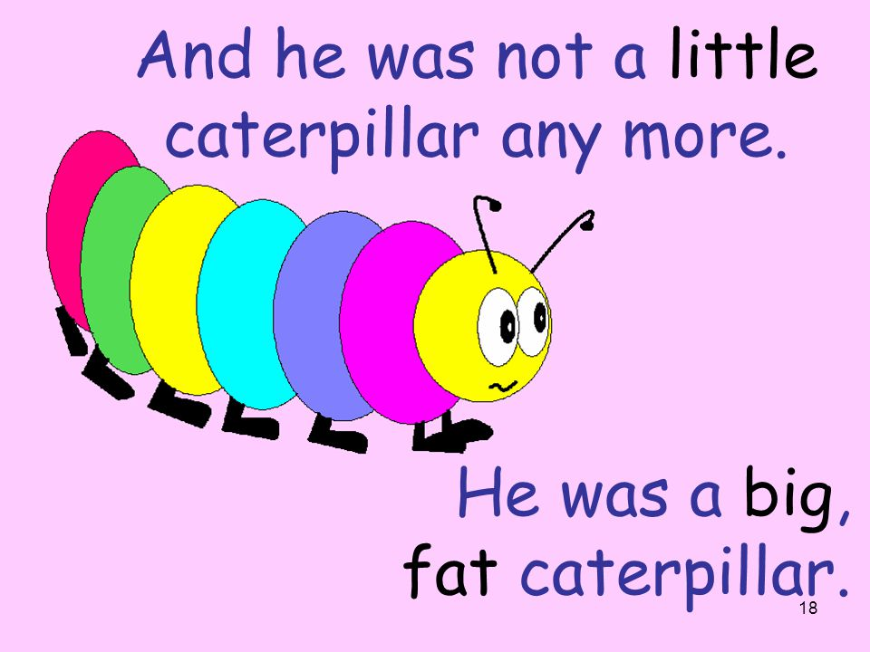 And he was not a little caterpillar any more.
