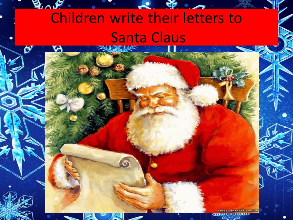 Children write their letters to Santa Claus