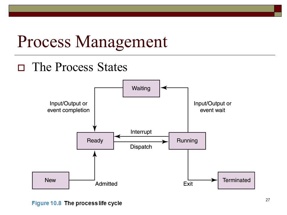 Process Management The Process States