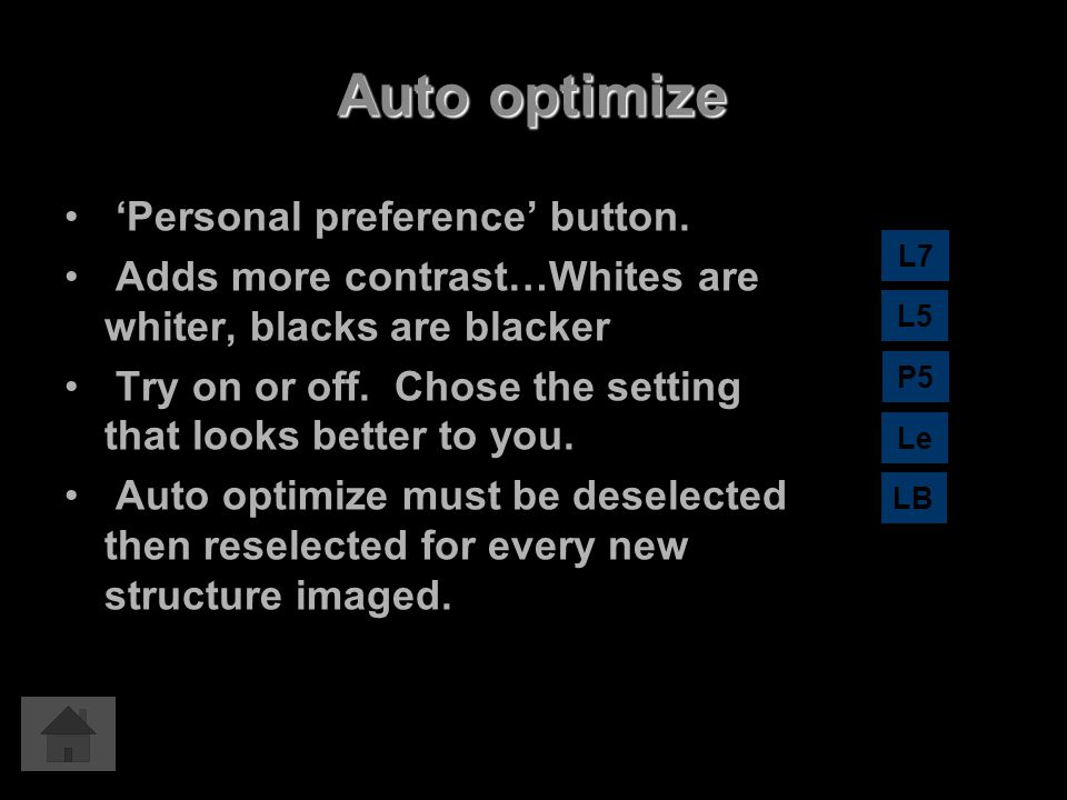 Auto optimize 'Personal preference' button.