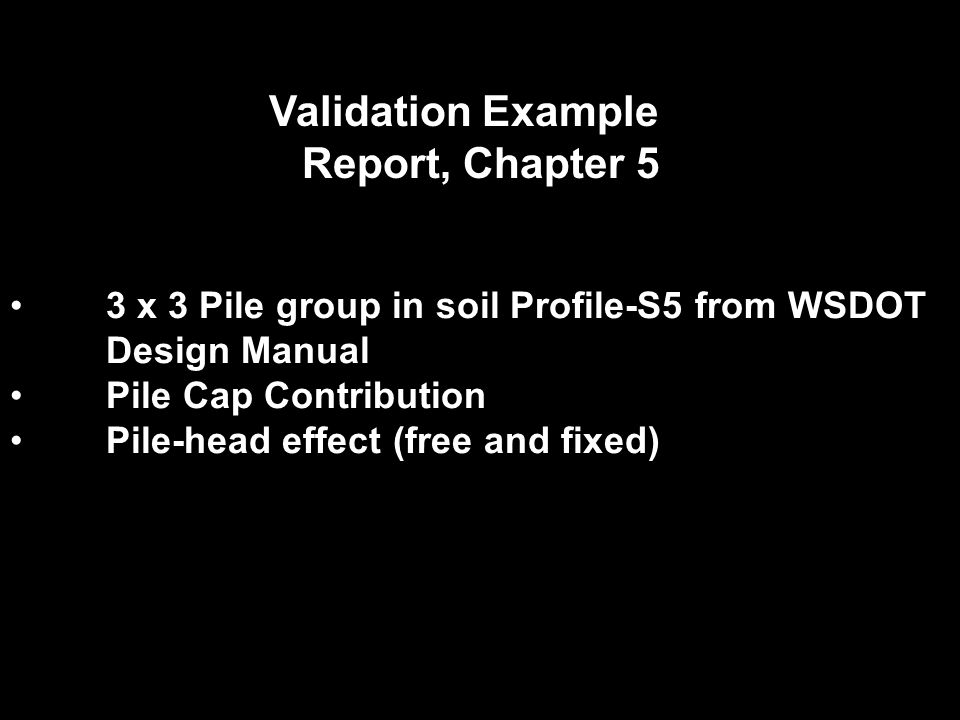 Validation Example Report, Chapter 5