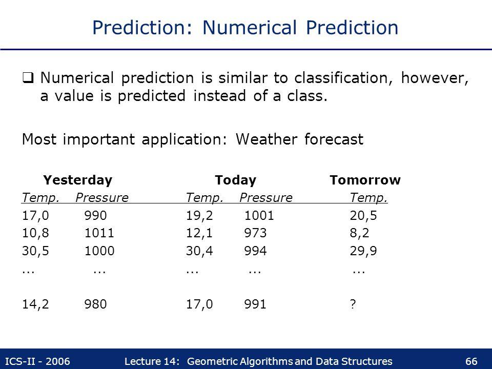 Prediction: Numerical Prediction