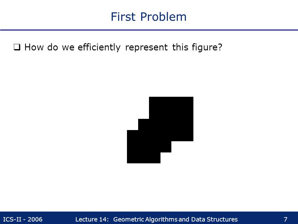 First Problem How do we efficiently represent this figure